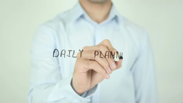 Thumbnail for Daily Planner, Writing On Screen
