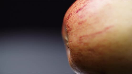 Thumbnail for Fresh Apple Isolated on Black Background