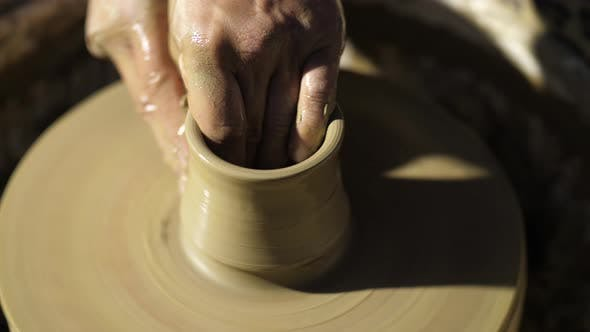 Thumbnail for Creating a Jar or Vase of White Clay