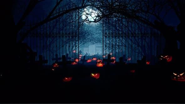 Thumbnail for Halloween Gravestone In Cave 01 4K
