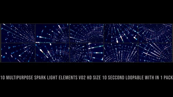 Multipurpose Spark Elements Pack V02