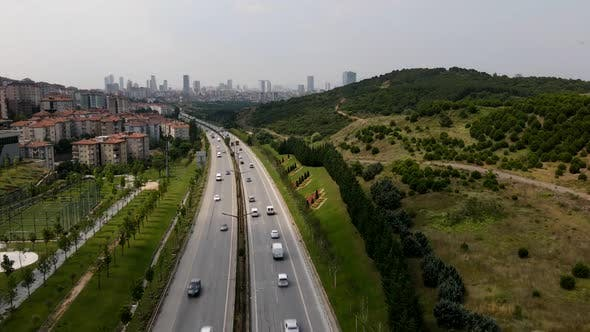 Drone Aerial View Hyperlapse Traffic