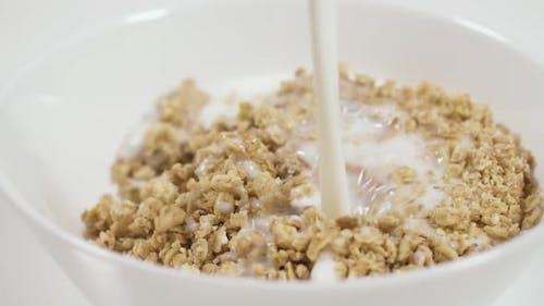 Diet Food with Almond Milk