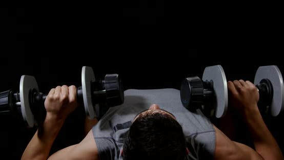 Thumbnail for Man Working on Chest With Dumbbells 22B
