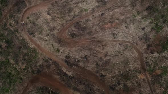 Cover Image for Drone View Moto Race on Racing Track