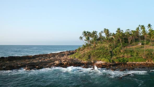 Thumbnail for Coastal Line During Sunrise on the Southern Part of the Island of Sri Lanka