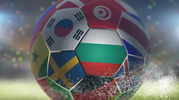 Thumbnail for Bulgaria Flag on a Soccer Ball - Football in Stadium