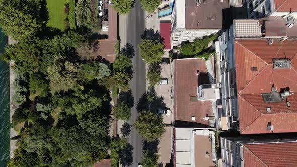 Seashore City View Aerial Drone