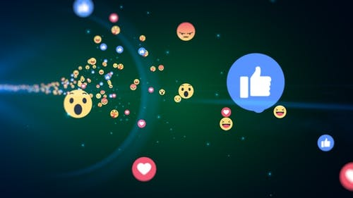 Generic Facebook Emotion Icons Flying V4