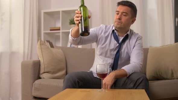 Thumbnail for Alcoholic Pouring Red Wine To Glass at Home 12