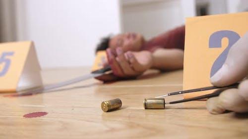 Tatortuntersuchung, Pistolenkassette