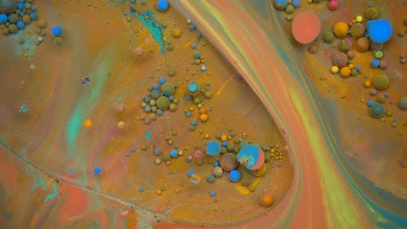 Cover Image for Mixture Of Liquid Paints Flowing