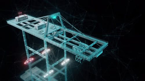 Big Industrial Crane 4k