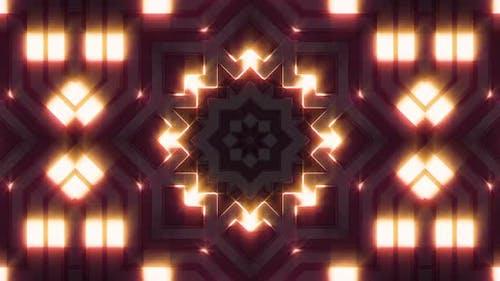 Visual Neon Light 3D Glow Shape Background V3