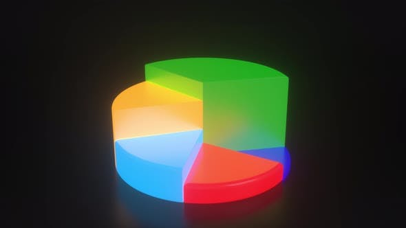Thumbnail for 3D Pie chart diagram for infographics