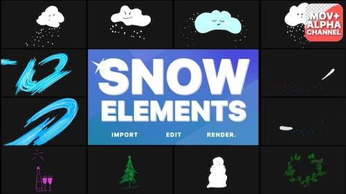 Cartoon Snow Clouds | Motion Graphics