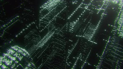 Abstract Hologram City