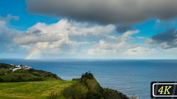 Thumbnail for Rainbow over the Ocean and Azores Coastline