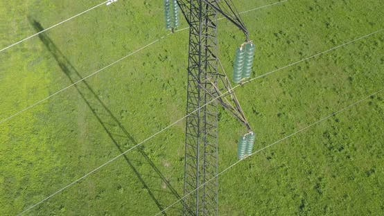 Power Line High Voltage Meadow