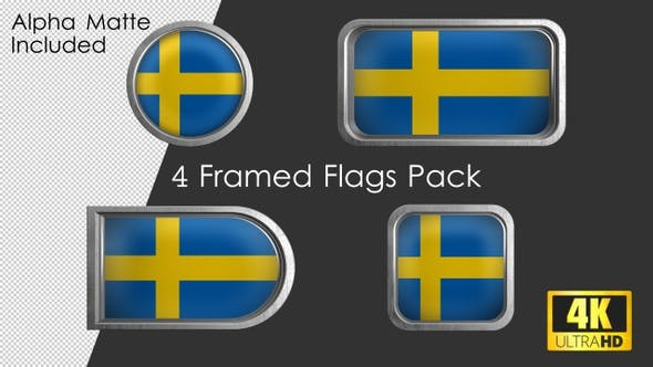 Thumbnail for Framed Sweden Flag Pack
