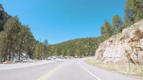 POV point of view -Driving West to Estes Park on highway 36.