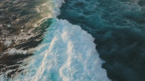 Cover Image for Water Surface with Big Waves, Aerial view.Bali