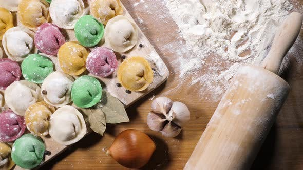 Thumbnail for Colored homemade dumplings