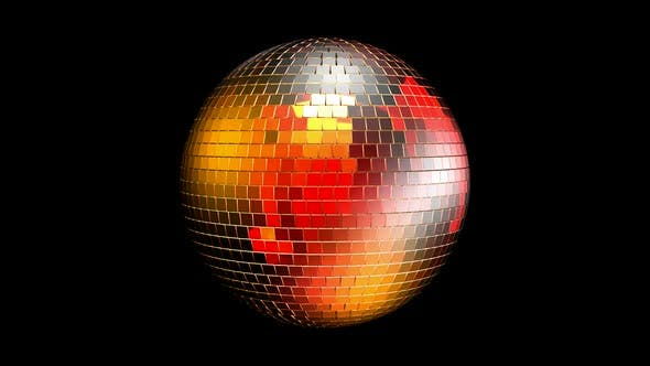 Rotating disco ball with reflected lights