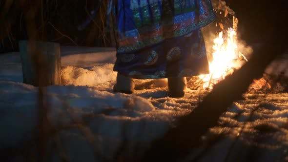 Thumbnail for Close-up of the Dancing Shaman's Feet