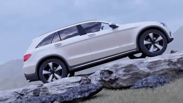 Thumbnail for Luxury Off-Road Vehicle Standing on Rocks