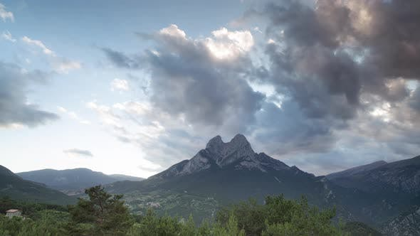 Day To Night Timelapse Video of Pedraforca, Pre Pyrenees, Catalonia