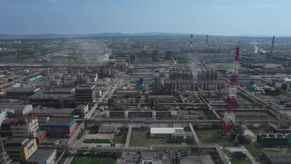 Chemical Enterprises in the Industrial Zone of Togliatti