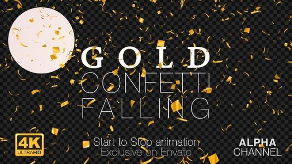 Thumbnail for Gold Confetti Falling