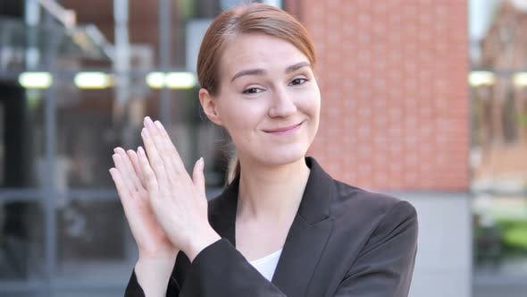 Thumbnail for Applauding Young Businesswoman, Clapping
