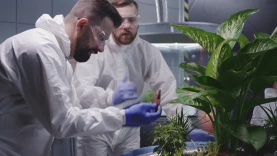Thumbnail for Two Scientists Examining Soil of Martian Garden