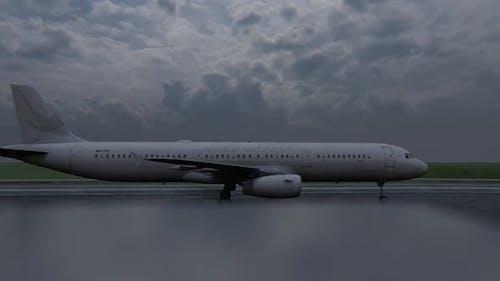 Passenger Plane Starting to Take Off