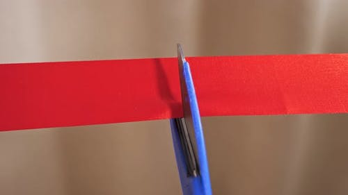 Grand Opening Cutting Red Ribbon