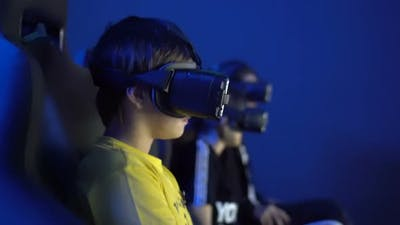 VR - Virtual Reality.