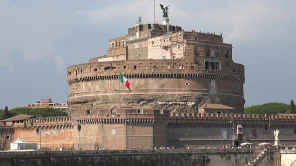 Mausoleum Hadrian Sant'Angelo Castle of the Holy Angel in Medieval European Architecture