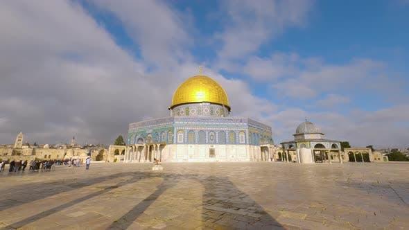 Golden Dome of the Rock in Jerusalem, Israel