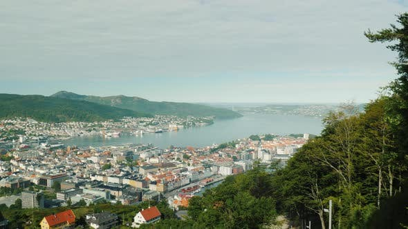 Thumbnail for Rise Above the City of Bergen By Cable Car