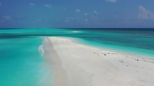 Thumbnail for Beautiful drone abstract shot of a white paradise beach and blue ocean background in 4K