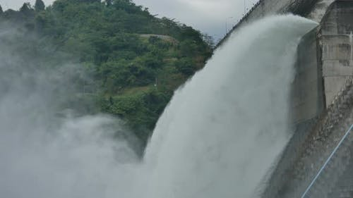 Water Release From Barrage