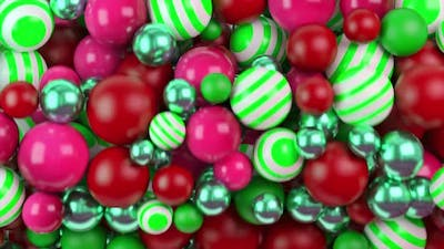 Close up of colorful children toy balls