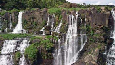Aerial Cinematic of Pongour Waterfall in Dalat Vietnam