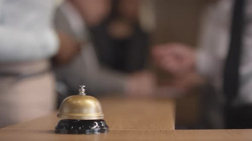 Call Bell on Hotel Reception Desk