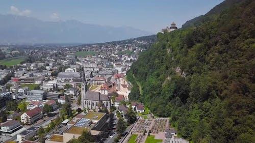Aerial View of Vaduz, Liechtenstein