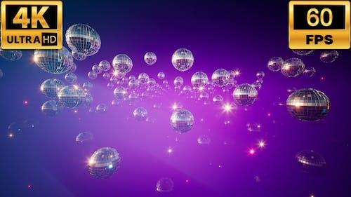 Shining Disco Balls 4k 60fps