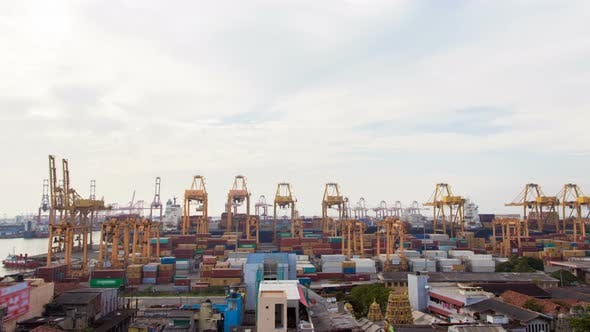 Thumbnail for Ship in Container Terminal Timelapse