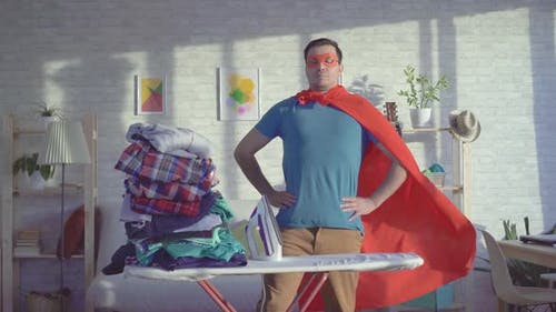 Man Householder Superhero Ironed All Things